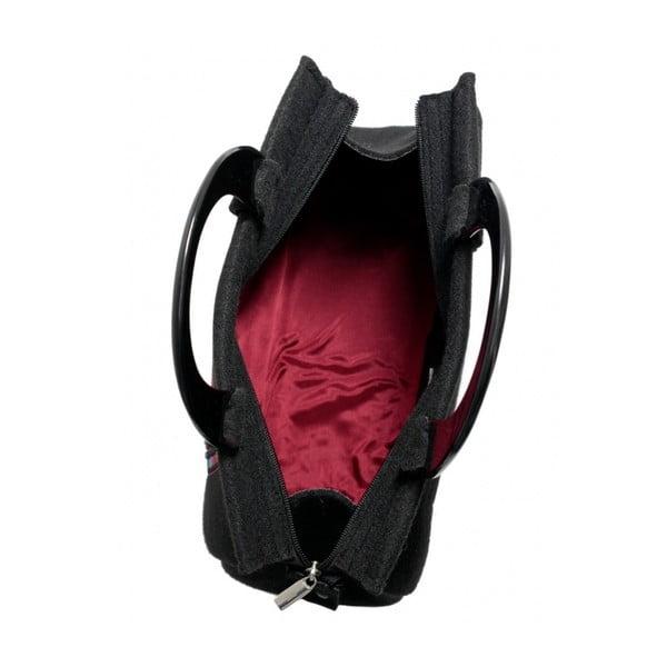 Plstěná vyšívaná kufříková kabelka do ruky Etno, menší