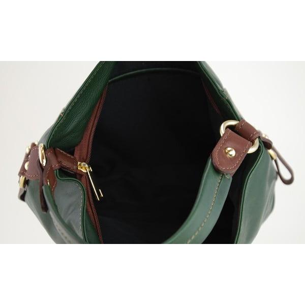 Kožená kabelka Alessia Verde/Marrone