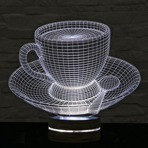 3D stolní lampa Cup of Tea