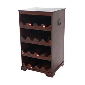Hnědý stojan na 16 lahví vína Mendler Shabby Colonial