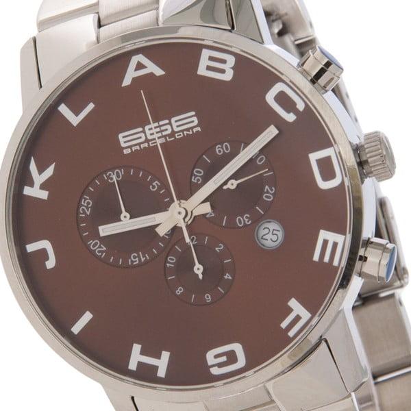 Pánské hodinky Alphabeth Steel Chrono Brown