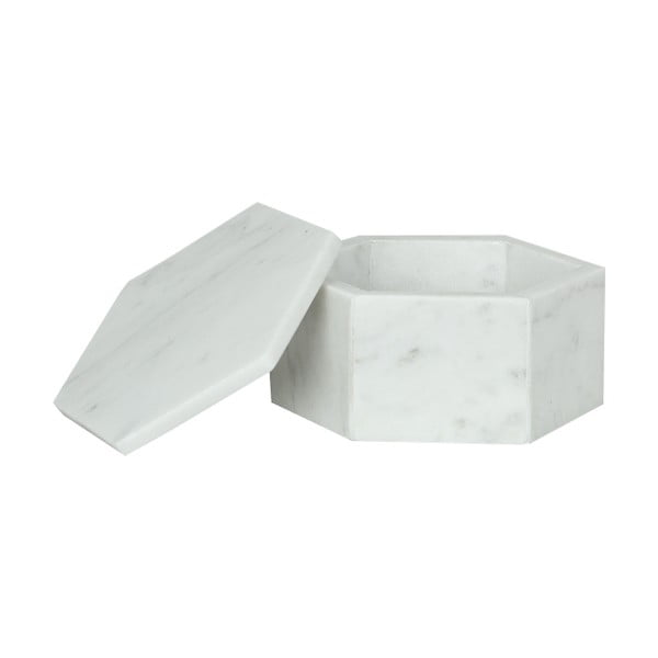 Mramorový box Signe White, 11 cm