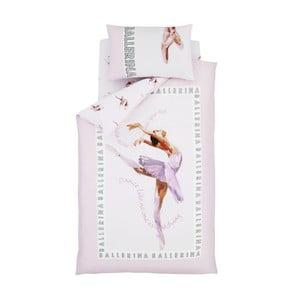 Lenjerie de pat pentru copii Catherine Lansfield Ballerina, 135 x 200 cm