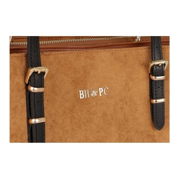 Hořčicově hnědá kabelka Beverly Hills Polo Club Ramona