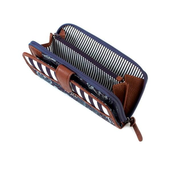 Modro-bílá peněženka SKPA-T, 18 x 9 cm