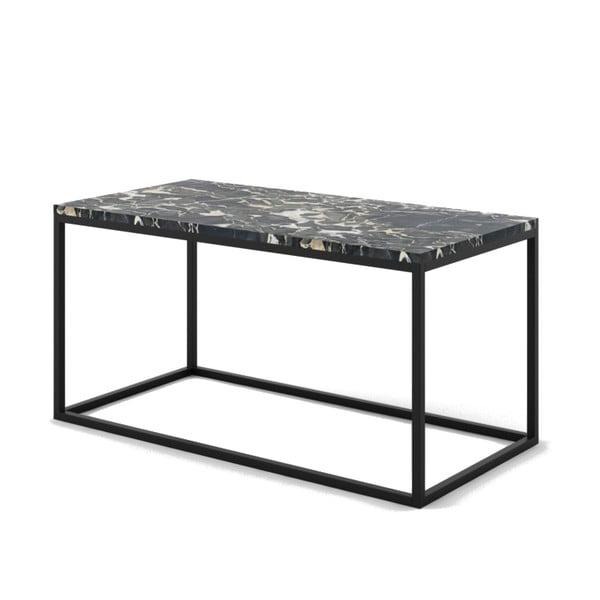 Velký černý konferenční stůl z mramoru s černým podnožím Absynth Noi Italy