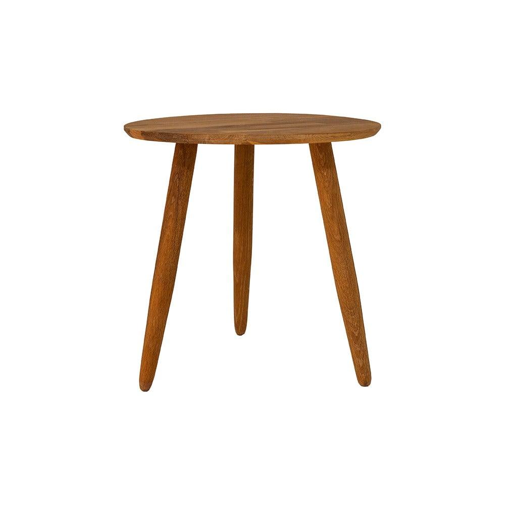 Odkládací stolek z masivního dubového dřeva Canett Uno, ø 40 cm