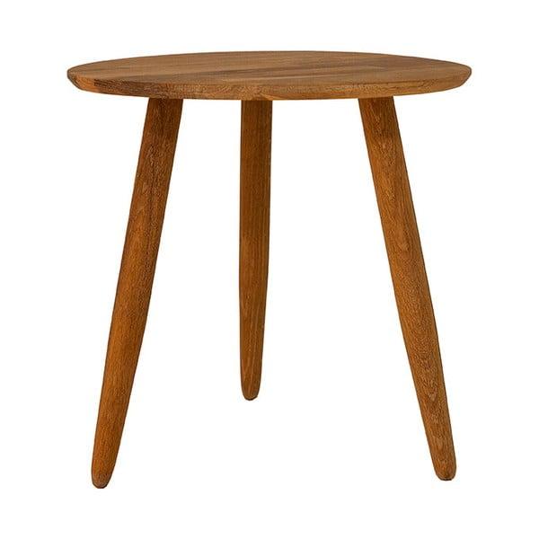 Masă cafea din lemn masiv de stejar Canett Uno, ø40cm