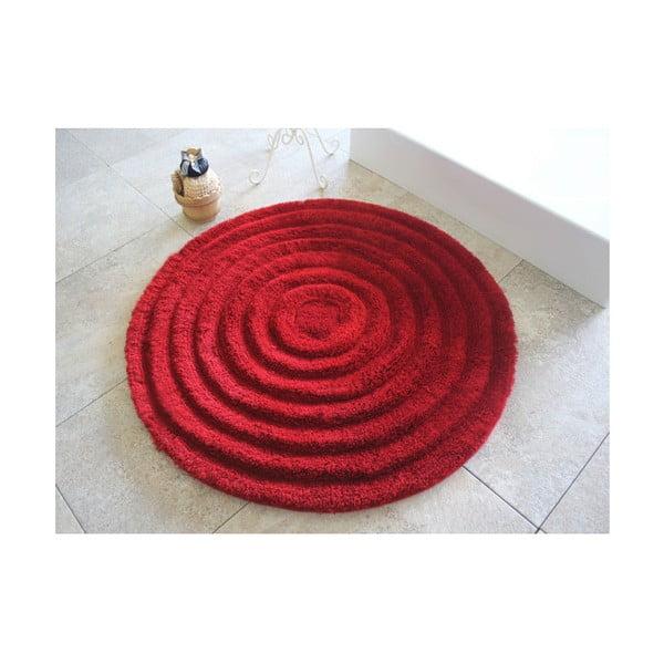 Covoraș de baie Confetti Bathmats Ecru, Ø 90 cm, roșu