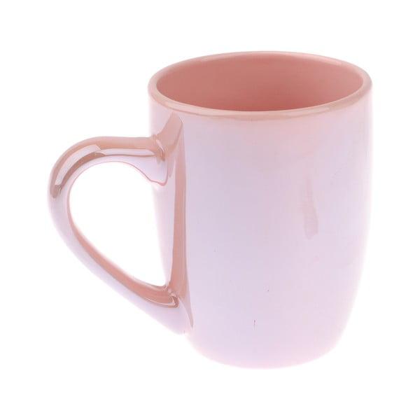 Ružový kameninový hrnček Dakls Puro, 330 ml