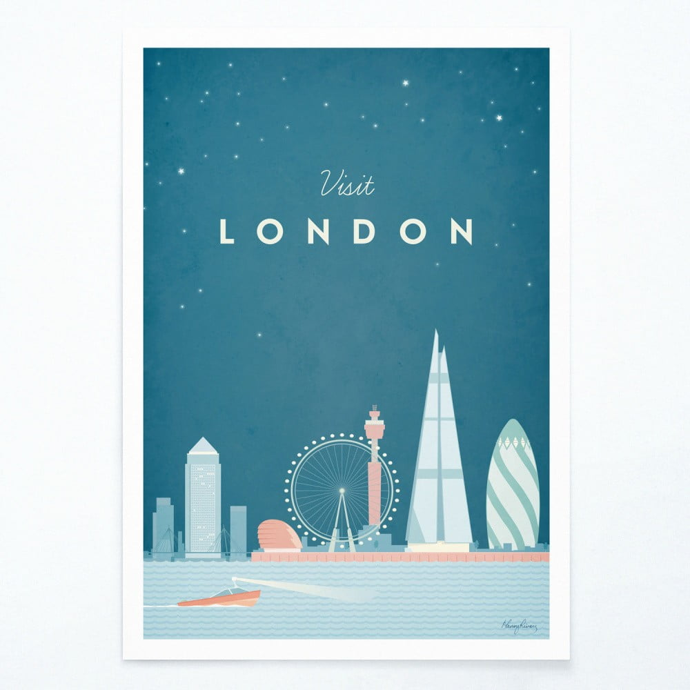 Plakát Travelposter London A2