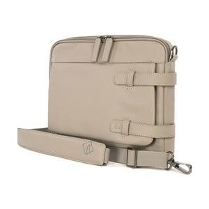 Béžová taška s ramenním popruhem z italské kůže Tucano Tema