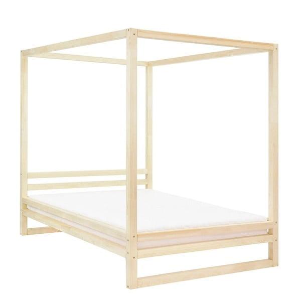 Dřevěná dvoulůžková postel Benlemi Baldee Bella Natural, 190x180cm