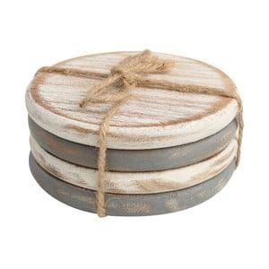 Sada 4 podtácků z akáciového dřeva T&G Woodware