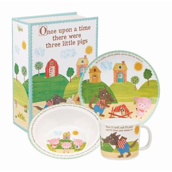 Sada 3 ks dětského nádobí Churchill China Pigs