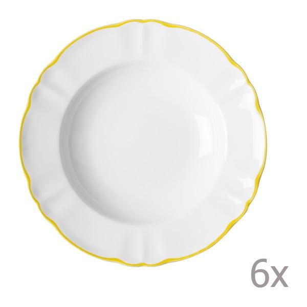 Sada 6 hlubokých talířů Parisienne Giallo