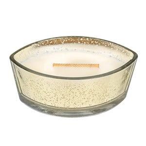 Svíčka s vůní skořice, ovsa a mandlového mléka WoodWick Ovesné sušenky, dobahoření80hodin