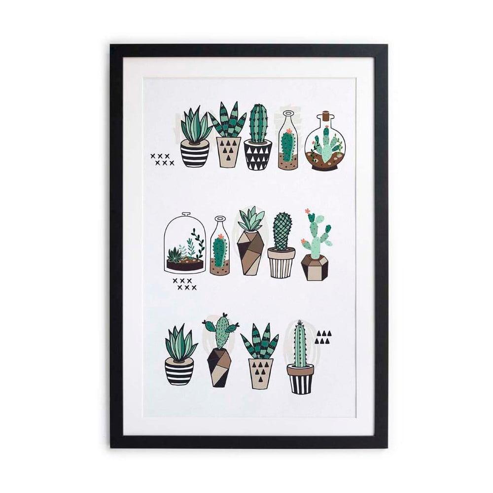 obraz little nice things cactus plants 40 x 60 cm bonami. Black Bedroom Furniture Sets. Home Design Ideas