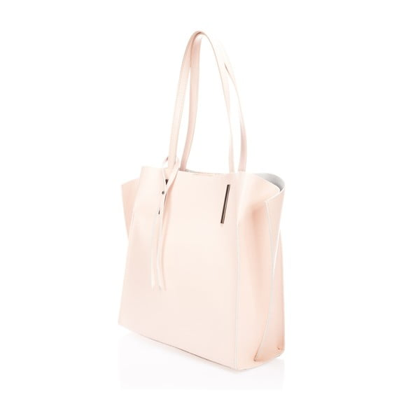 Kožená kabelka Toplenga, růžová