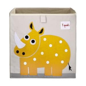 Úložný box 3 Sprouts s nosorožcem