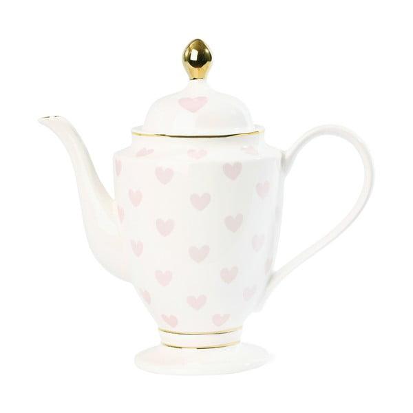 Konvice na čaj se srdíčky