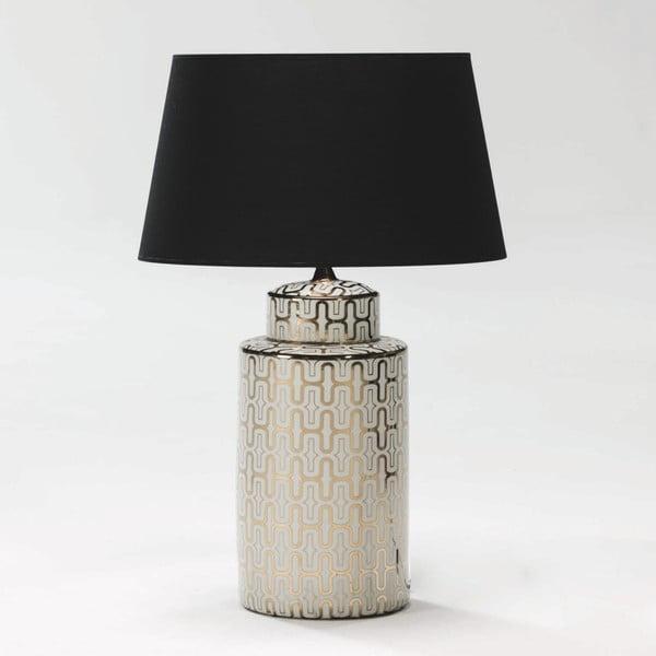 Bílo-zlatá stolní lampa z keramiky bez stínítka Thai Natura