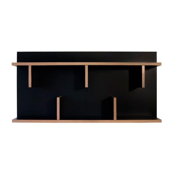 Bern fekete fali polc, 230 x 90 cm - TemaHome