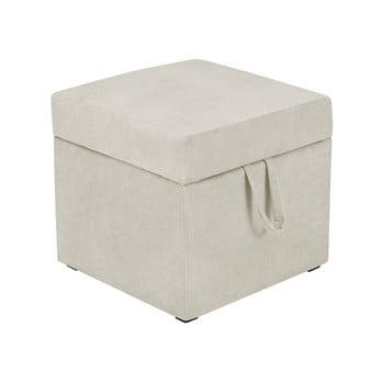 Taburet cu spațiu pentru depozitare KICOTI Cube, bej