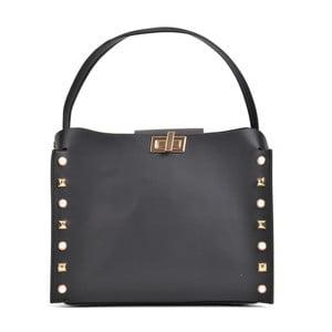 Černá kožená kabelka Sofia Cardoni Marissa