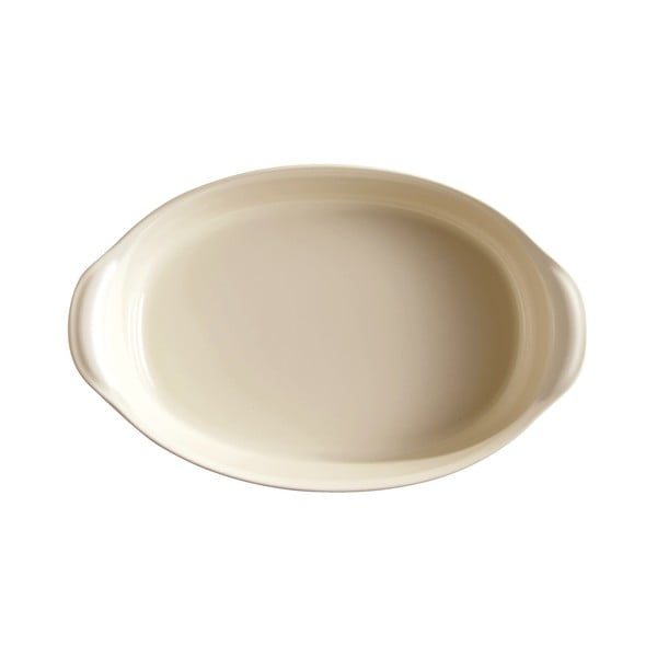 Tavă ovală pentru copt Emile Henry, 2,3 l , ivoriu