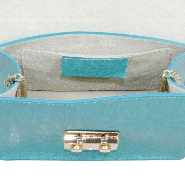 Kožená kabelka Markese 2416 Teal