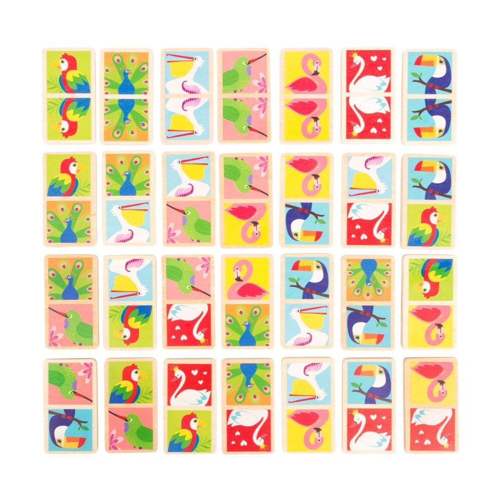 Dětské dřevěné domino Legler Birds of the World