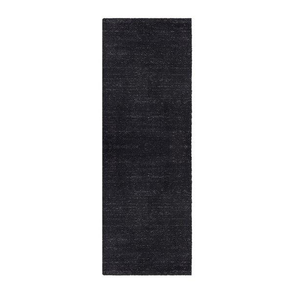 Antracitový běhoun běhoun Elle Decor Passion Orly, 80 x 200 cm