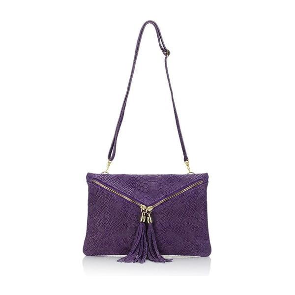 Fialová kožená kabelka Giulia Massari Erinn