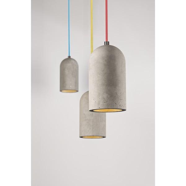 Závěsné stropní svítidlo U, betonové