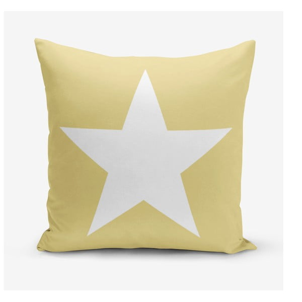 Stars sárga párnahuzat, 45 x 45 cm - Minimalist Cushion Covers