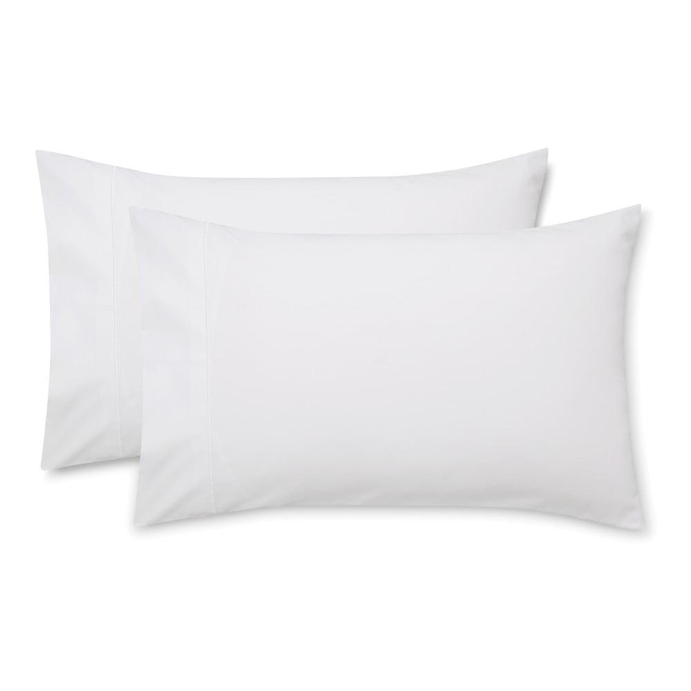 Sada 2 bílých povlaků na polštář z bavlněného saténu Bianca Luxury, 50 x 75 cm