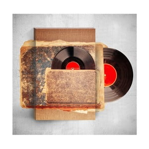 Nástěnný 3D obraz Mosticx Old Vinyl, 40 x 60 cm