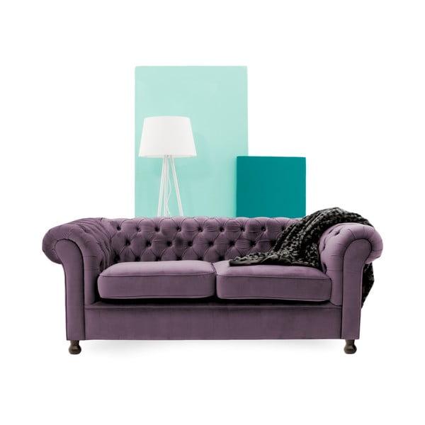 Canapea 3 locuri Vivonita Chesterfield, mov