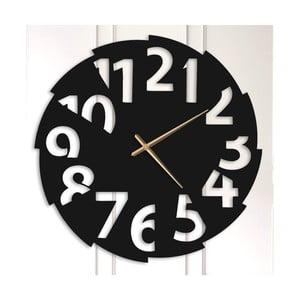 Černé kovové nástěnné hodiny Elmer