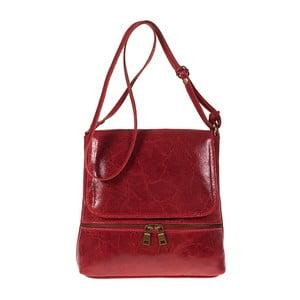 Červená kožená kabelka Giulia Bags Eireen