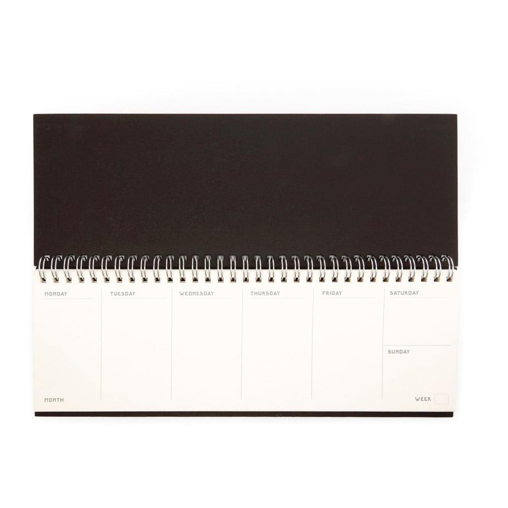 Hnědý kalendář ke klávesnici Kikkerland Writersblok