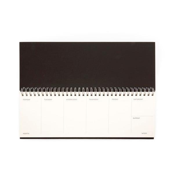 Brązowy kalendarz do klawiatury Kikkerland Writersblok