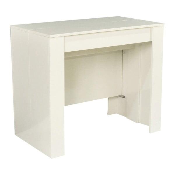 Biely rozkladací konzolový stolík Esidra Glossy