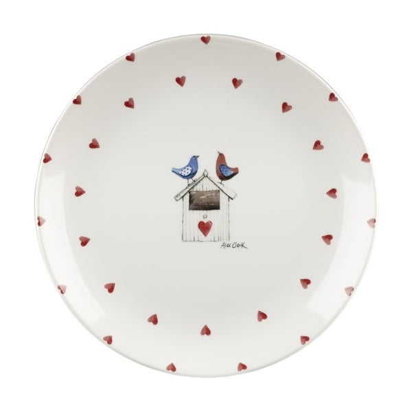 Sada 6 talířů Churchill China Two Lovebirds, 26 cm