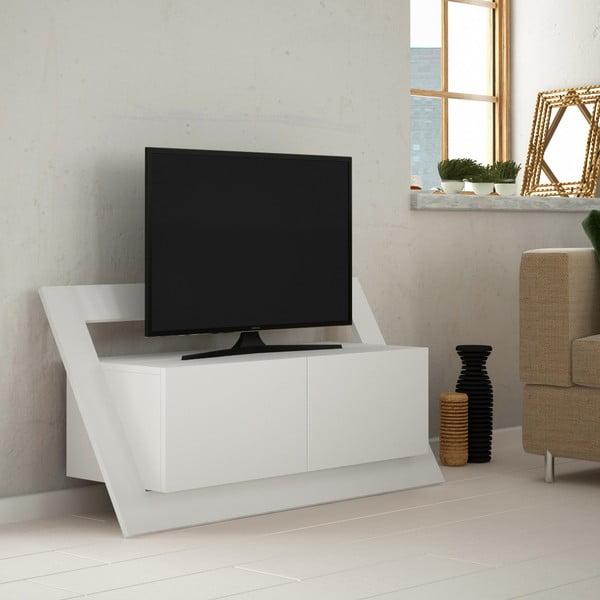 Bílý TV stolek Homitis Kayt
