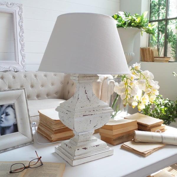 Stolní lampa Shabby White