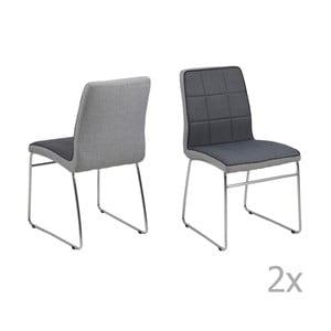 Set 4 scaune Actona Justin, gri