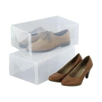 Set 2 cutii pentru depozitarea pantofilor Wenko Pack de la Wenko