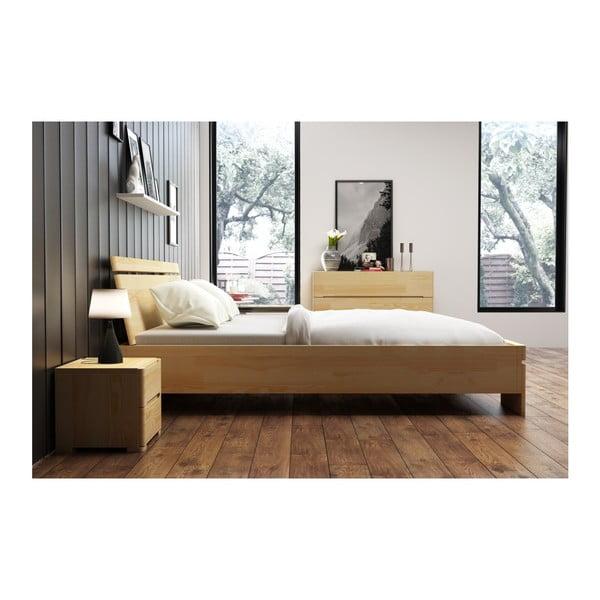 Pat dublu din lemn de pin, cu spațiu de depozitare, SKANDICA Sparta Maxi, 180 x 200 cm